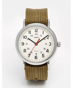 Timex | Часы С Нейлоновым Ремешком Originals Weekender Зеленый