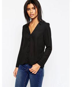 Asos | Блузка С V-Образным Вырезом Черный