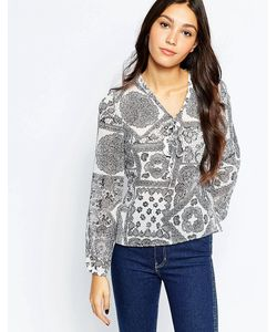 Style London   Блузка С Кружевным Принтом