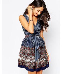 Yumi | Платье С Поясом И Платочным Принтом