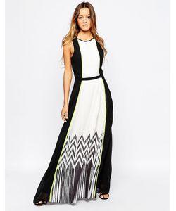 Adelyn Rae | Плиссированное Платье Макси С Зигзагами