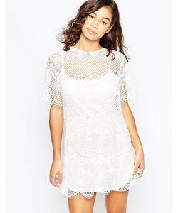 Mela Loves London   Кружевное Цельнокройное Платье