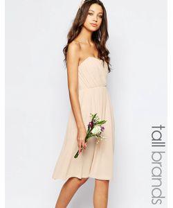 TFNC Tall | Шифоновое Платьебандо Миди Wedding Телесный