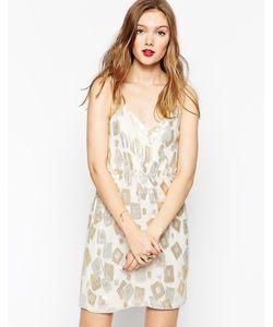 Aryn K | Платье На Бретельках С Тисненым Узором