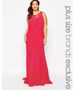 Forever Unique Plus | Декорированное Платье Макси С Кружевными Вставками
