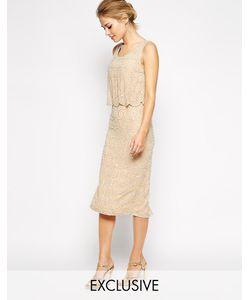 Frock and Frill | Цельнокройное Платье Миди С Отделкой И Фигурной Кромкой Frock And Fril