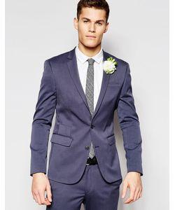 Asos | Синий Облегающий Пиджак Wedding Серый