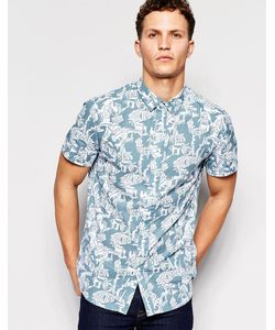 Afends | Рубашка С Короткими Рукавами И Принтом Синий