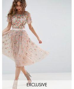 Needle & Thread | Платье Миди С Отделкой Needle And Thread Starburst
