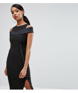 Vesper | Платье-Футляр С Вырезами На Плечах И Шнуровкой Сбоку