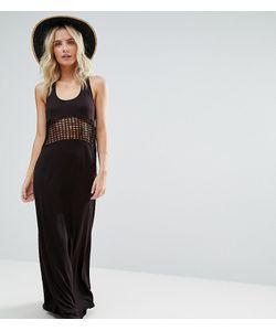 ASOS PETITE | Пляжное Трикотажное Платье Макси С Решетчатой Вставкой