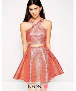Lashes of London | Платье Для Выпускного С Перекрестным Передом Розовый