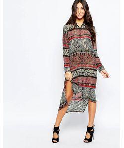 Style London   Платье-Рубашка Миди С Принтом Пейсли В Стиле 70Х