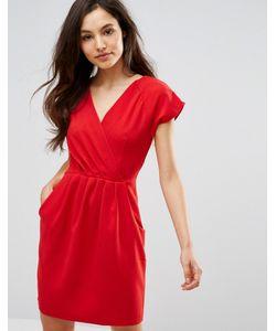 Closet London   Платье-Футляр 2 В 1 С Запахом Спереди Closet Красный