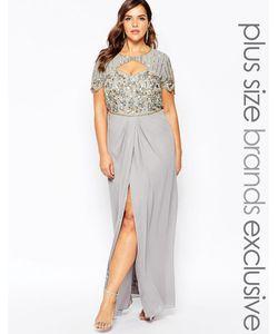 Virgos Lounge Plus | Платье Макси С Вырезом Сердечком И Высоким Разрезом