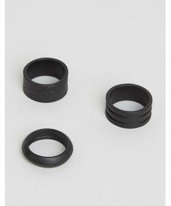 Aldo | 3 Черных Гравированных Кольца