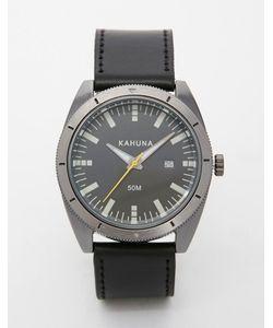 Kahuna | Черные Часы С Кожаным Ремешком