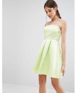 Glamorous   Платье-Бандо Для Выпускного Нежно-Голубой