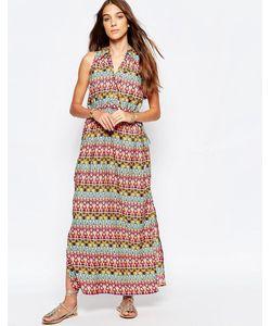 Mela Loves London   Платье Макси С Принтом