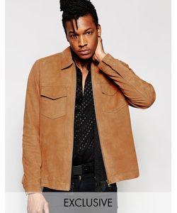 Black Dust | Замшевая Куртка На Молнии Без Подкладки Рыжий