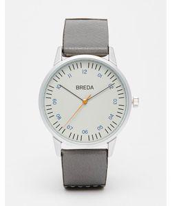 Breda | Часы С Кожаным Серым/Черным Ремешком Rothko