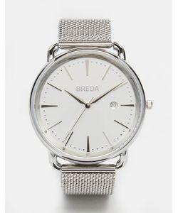 Breda | Серебристые Часы Из Нержавеющей Стали С Сетчатым Ремешком Linx