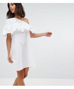 Noisy May Petite | Платье На Одно Плечо С Оборками