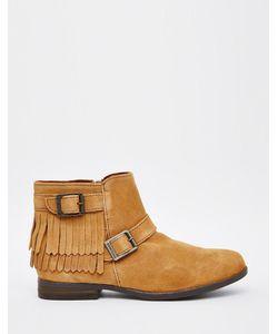 Minnetonka | Замшевые Ботинки С Бахромой И Пряжками Rancho Серо-Коричневый
