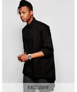 Unplugged Museum | Рубашка-Oversize С Ассиметричной Кромкой Черный