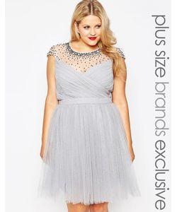 Little Mistress Plus | Платье Для Выпускного С Прозрачной Отделкой