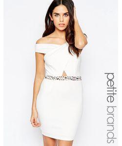 Lipstick Boutique Petite   Платье С Декорированной Отделкой На Талии Белый