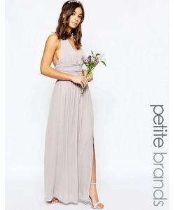TFNC Petite | Шифоновое Платье Макси С Халтером Wedding Лаванда