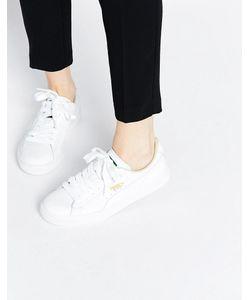 Puma | Классические Белые Кроссовки Basket Белый