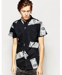 Zee Gee Why | Черная Рубашка С Короткими Рукавами И Принтом Долларов