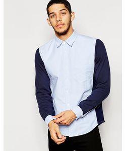Izzue | Рубашка Колор Блок С Трикотажными Рукавами