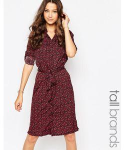 Influence Tall | Платье-Рубашка С Цветочным Принтом И Поясом