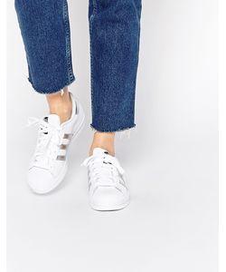 Adidas | Белые Кроссовки С Серебристыми Вставками Originals Superstar Белый
