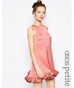 ASOS PETITE | Цельнокройное Платье Мини С Оборкой Розовый