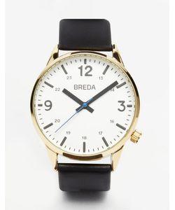 Breda | Часы С Черным Кожаным Ремешком Slate