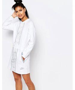 Nike | Платье С Длинными Рукавами И Принтом Luxury Бежевый
