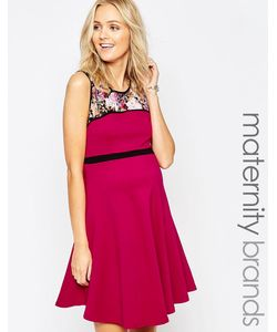 Ripe | Короткое Приталенное Платье Для Беременных С Цветочным Принтом Maternity