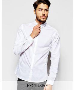 Noak | Рубашка Скинни С Миниатюрным Воротником Белый