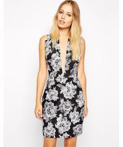 Style Stalker | Платье С Принтом И Глубоким Вырезом Stylestalker American Beauty Мульти