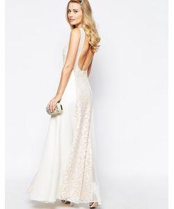 JARLO | Платье Макси С Открытой Спиной И Кружевными Вставками Beatrix