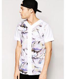 Standard Issue | Бейсбольная Рубашка С Крупным Цветочным Принтом В Сублимационной Техни