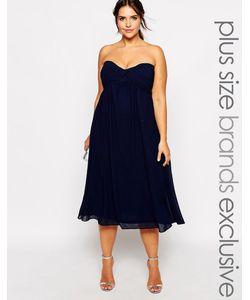 Truly You   Платье Миди В Стиле Бандо
