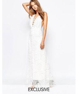 White Sand | Кружевное Платье Макси Fiji Белый
