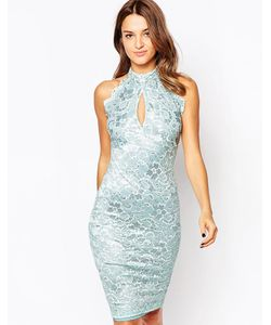 Amy Childs | Кружевное Платье Миди Misha Синий