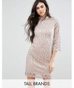 Vero Moda | Кружевное Платье С Рукавами До Локтя Tall Шампанское