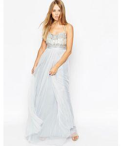 Needle & Thread | Платье Макси Porcelain Blue